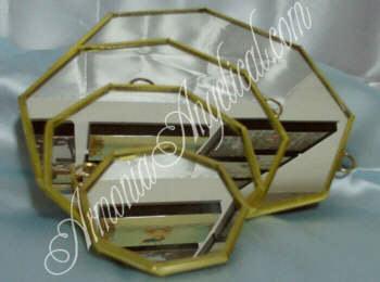 fengshui juego espejos octagonales con filo de laton